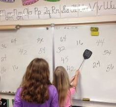 Get students moving with this fun way to practice multiplication facts. All you need is a fly swatter!