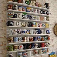 12 Handy Diy Mug Tree And Display Ideas Cream Shelvingopen Shelvingcoffee