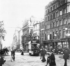 Nassau St and Grafton St junction Old Pictures, Old Photos, Photo Engraving, Ireland Homes, Dublin City, Dublin Ireland, Historical Society, Book Of Life, Belfast