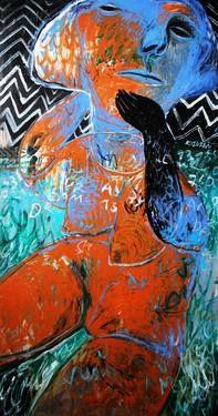 """Saatchi Art Artist Rusudan Khizanishvili; Painting, """"The Nude"""" #art"""
