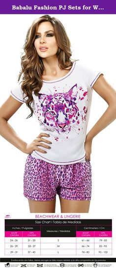 Babalu Fashion PJ Sets for Women Pajamas Nightwear 23941 Gray S. Throw off your work clothes, and cozy up in Babalu's women sleepwear sets. After a busy day unwind in these beautiful women nightwear. Wear this pajama short set around the house, to prepare dinner and finally to an amazing sleeping time. You will notice a difference in the quality of your nights after you start wearing comfortable women sleepwear sets. Feel fresh and energized after an evening in these ladies sleepwear…