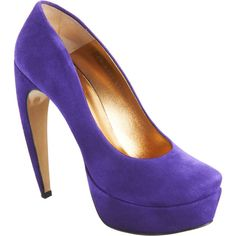 Walter Steiger Curved Heel Pump - Purple size 10.5 ($299) found on Polyvore