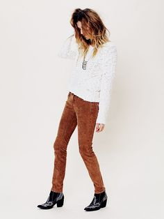 Free People FP Corduroy Skinnies,love these!! Especially in mint :)