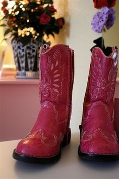 Little cowgirl boots complete the space