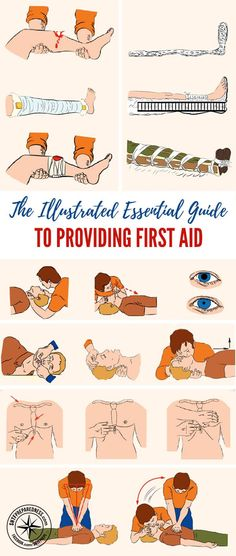 The Illustrated Essential Guide to Providing First Aid — No one wants to be in a situation where first aid is needed, but this is something that will definitely happen at some point. Whether you are a homesteader or simply in a situation where medical aid is not available, there are skills that need to be learned before they are needed. Images by brightside.me #firstaid #prepping #preparedness #prepper #survival #shtf #homestead #homesteading #selfsufficient