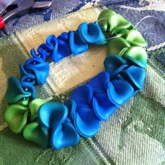 Polymer clay bracelet, made with Premo Accent pearl colours