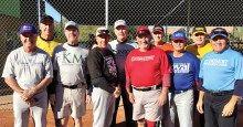 Left to right: Mike Burke, Ed Schneider, John Spencer, Paul Zuckerbrow, Jay Sabatello, Rich Karp, Jack Hogan, Monte Page, Gary Jensen and Dan Rea