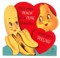 Vintage Valentine: A Peach of a Pear by pageofbats, via Flickr