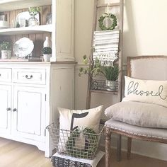 cool That chair I love all the pretty farmhouse decor in this shot by…... by http://www.cool-homedecorideas.xyz/kitchen-decor-designs/that-chair-i-love-all-the-pretty-farmhouse-decor-in-this-shot-by/
