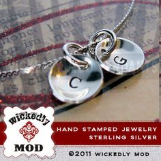 Personalized Necklace  Initial Necklace  by wickedlymodpendants, $36.00