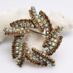 Vintage Rhinestone Brooch Kramer Jewelry