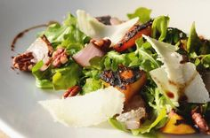 Grilled peach and arugula salad #recipe #september #seasonal