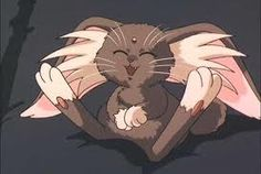 """Ryo-Ohki, the """"cabbit"""" (half cat, half rabbit) from the anime 'Tenchi Muyo'.  One of the most adorable things ever. <3"""