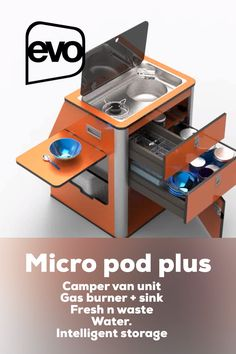 RV camper kitchen pod - - RV camper kitchen pod Camper Kitchen Pods Compact kitchen unit designed for the vw transporter. Fit with rail system Camping Gas, Truck Camping, Minivan Camping, Camping Coffee, Rv Campers, Camper Trailers, Pod Camper, Vw Camper Vans, Astuces Camping-car