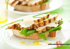Open Chicken Caesar Sandwich – This sandwich is very classy yet simple and diet friendly which perfect for breakfast or midday food craving   RECIPE : http://www.allfoodsrecipes.com/recipe/open-chicken-caesar-sandwich/