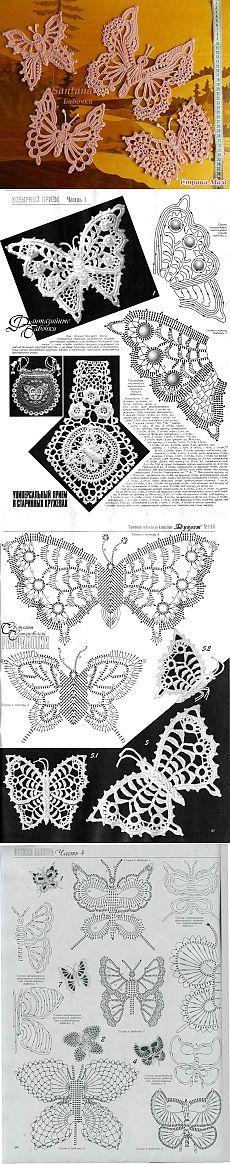 Мотивы ирландского кружева (бабочки) - Страна Мам