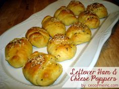 Leftover Ham & Cheese Crescent Roll Poppers Recipe - Add pineapples to make it Hawaiian or any veggies you like! http://ceoofmeinc.com/leftover-ham-cheese-crescent-roll-poppers-recipe/ #recipe #hamrecipes #crescentrollrecipes #Easterrecipes