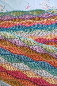 Susan Pinner: Search results for wave pattern - My CMS Crochet Ripple Blanket, Crochet Shawl, Crochet Stitches, Crochet Blankets, Baby Blankets, Crochet Wave Pattern, Crochet Patterns, Aran Weight Yarn, Batik