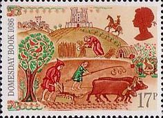 Didn't Need Explanation: sorrow, exhausting work, abuse. So, Authors focused on the pretty parts. Medieval Life 17p Stamp (1986) Peasants Working in Fields