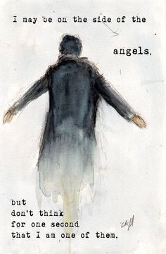 """Side of the Angels"" BBC Sherlock print on Etsy by BurnsidesManor"