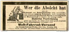 Original-Werbung/ Anzeige 1905 - WELT - FAHRRAD - VERSAND / KOMET  DRESDEN - ca. 100 x 45 mm