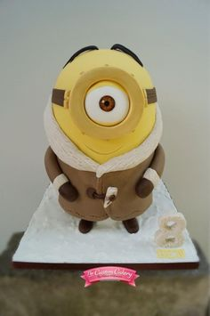 Arctic Minion! - Cake by The Custom Cakery - For all you cake decorating supplies, please visit craftcompany.co.uk