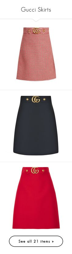 """""""Gucci Skirts"""" by agneszwara ❤ liked on Polyvore featuring skirts, red white, red flared skirt, patterned skirts, knee length a line skirt, knee length flared skirts, knee length skirts, bottoms, zip skirt and wool midi skirt"""