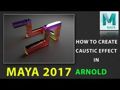 (14) How to Create Caustics Effect in Maya 2017 using ARNOLD - YouTube