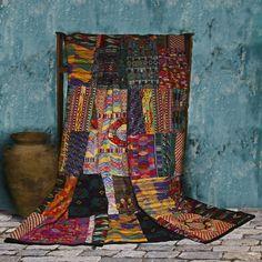Fabulous Mixed Huipile Guatemalan Patchwork Quilt