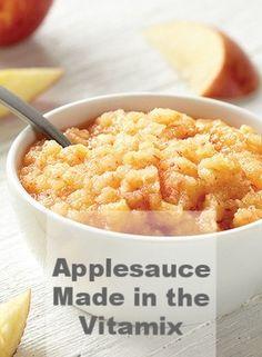 Raw Applesauce made in the Vitamix blender
