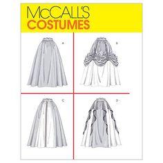 Amazon.com: McCall's Patterns M4090 Misses' Renaissance Skirts, Size CCD (10-12-14-16) Jocasta Nu skirt