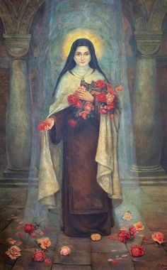 Therese of Liseux Catholic Art, Catholic Saints, Religious Art, Sainte Therese De Lisieux, Ste Therese, St Pio Of Pietrelcina, Catholic Pictures, Vintage Holy Cards, Saints And Sinners