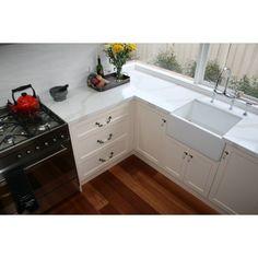 1901 Belfast Sink - 595 x 455 x 250 mm - Including Basket Waste Kitchen Cupboard Handles, Heritage Kitchen, French Provincial Kitchen, Buy Kitchen, Fireclay Sink, Kitchen Fittings, Brass Kitchen, Stylish Kitchen, Contemporary Kitchen