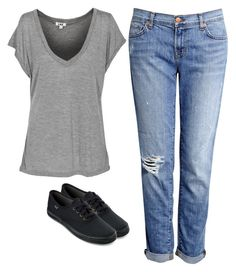 """Untitled #3375"" by adi-pollak ❤ liked on Polyvore featuring J Brand and Keds"