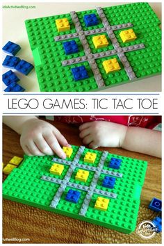 How to make a Lego tic tac toe board. Kids love Lego games!