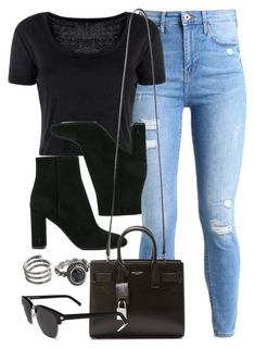 """#14777"" by vany-alvarado ❤ liked on Polyvore featuring River Island, Boohoo, Yves Saint Laurent and Mudd"