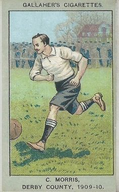 C. Morris of Derby County in 1909-10.