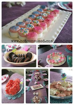 Doll Tea Party Food, Large for the guests and mini for the dolls :) Girls Tea Party, Tea Party Birthday, Tea Parties, Princess Tea Party Food, Girl Parties, 4th Birthday, Birthday Ideas, Birthday Cake, Yummy Treats