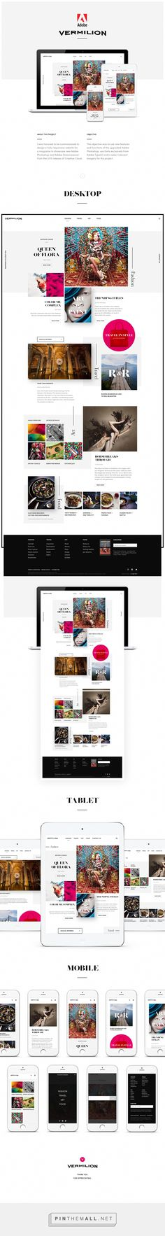Official Showcase #Website for Adobe on Behance