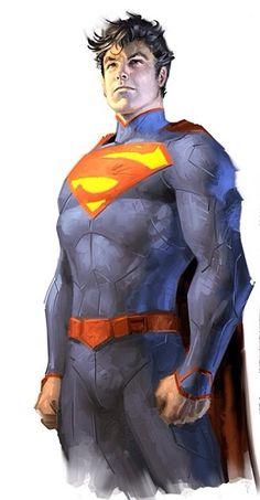 20 Superman line art by Jim Lee