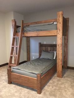 Twin over twin bunk bed for adults and kids