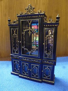 Dining Room Furniture By JiaYi Miniatures 1/12 Scale Display Cabinet 055