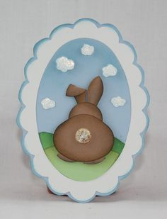 Cute bunny card, http://andreawalford.com/bunny-from-behind-punch-project