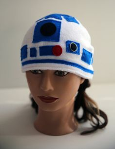 R2D2 Hat - Fleece and Hand Embroidered Felt - Star Wars -