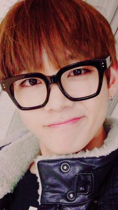 TaeTae in glasses! #V #Taehyung #BTS