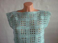 Hand Crochet Tunic Crochet Top Crochet Shirt by ValijaDesign, $45.00