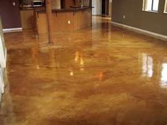 Flooring Ideas For Concrete Floors - With advancements and innovations in home design as well as enlarging imagination and s Acid Wash Concrete, Acid Stained Concrete Floors, Concrete Basement Floors, Painting Basement Floors, Basement Flooring Options, Diy Flooring, Flooring Ideas, Stained Cement, Cement Floors