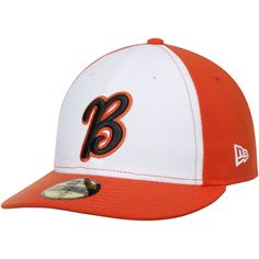 Bakersfield Blaze New Era Home Authentic Collection On-Field Low Profile 59FIFTY Fitted Hat - White/Orange