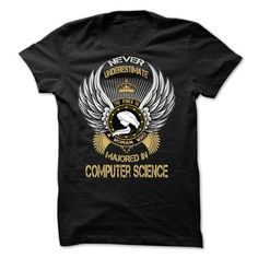 Majored In Computer Science T Shirts, Hoodies. Check price ==► https://www.sunfrog.com/Faith/Majored-In-Computer-Science.html?41382 $24