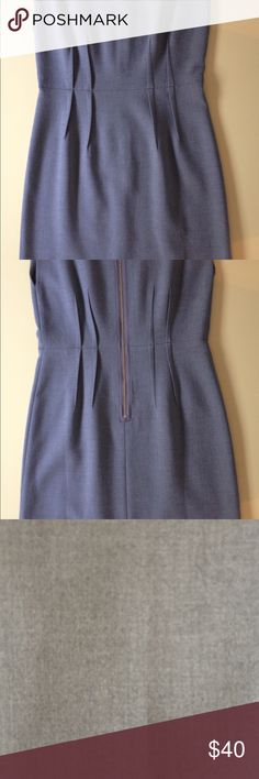 Light Grey Sleeveless Dress New without tag. Light grey shift dress. Perfect for work. Size 6 LOFT Dresses